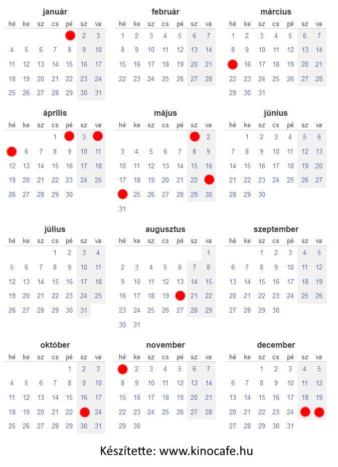 naptár, amikor a boltok nem lesznek nyitva 2021-ben